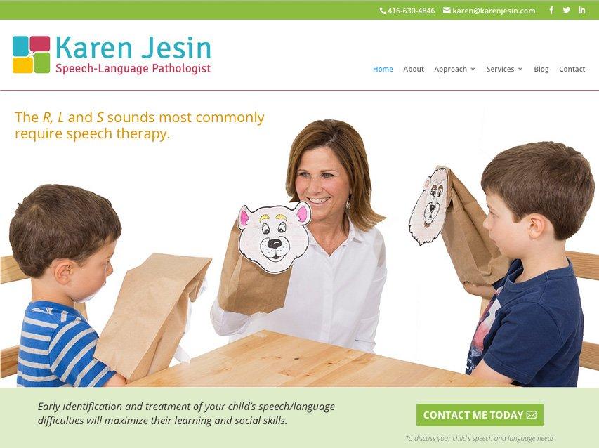 Karen Jesin - Speech-Language Pathologist Website