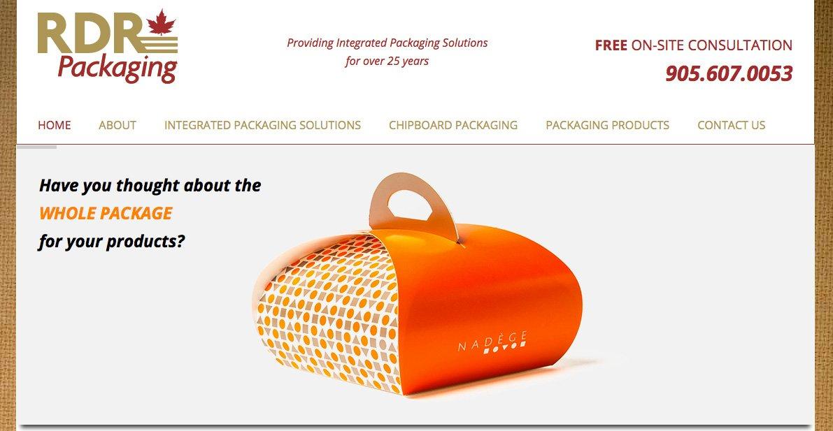 RDR Packaging Mobile Responsive Website