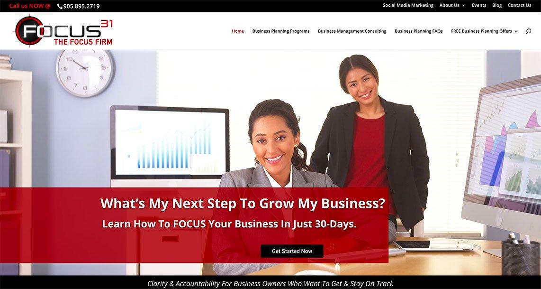 James Burgess - Focus 31 - Mobile Responsive Website
