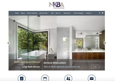 National Kitchen and Bath Association Ontario – Mobile Responsive Website