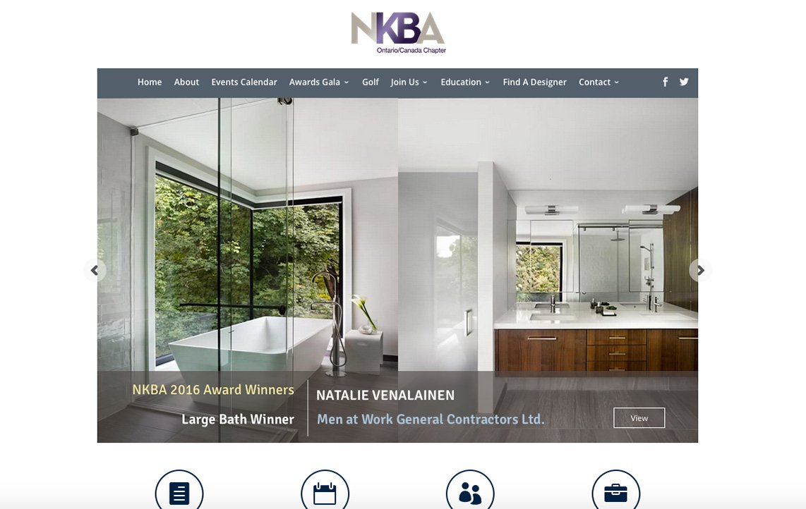 NKBA - Ontario - Mobile Responsive Website