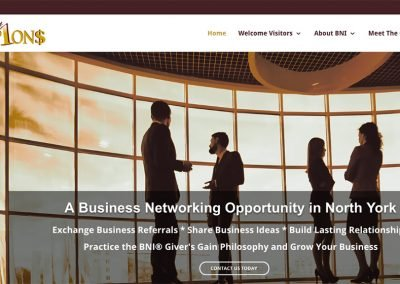 BNI Champions North York Business Networking Group – Mobile Responsive Website