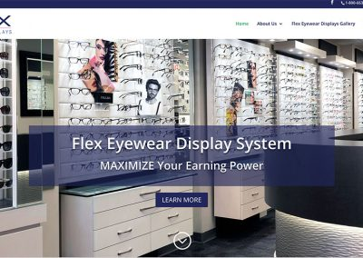 Mobile Responsive Website – WordPress Divi Theme – www.flexeyeweardisplays.com
