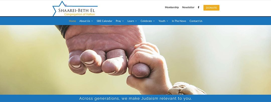 Shaarei-Beth El – WordPress Divi Mobile Site –  www.sbe.ca